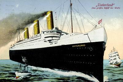 Riesendampfer Vaterland Der Hapag, Segelschiff