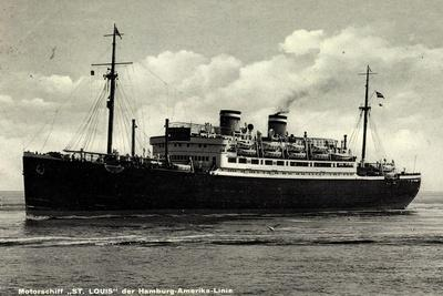 Dampfer St. Louis Der Hamburg Amerika Linie