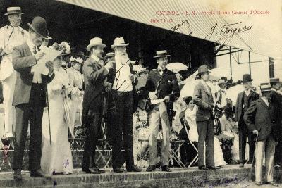 Ostende, S.M. Leopold II Aux Courses, Belg. König