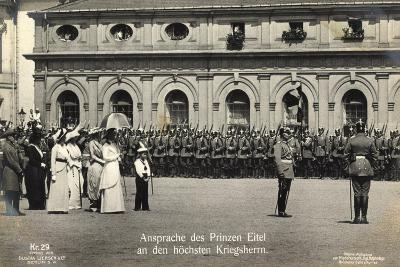 Prinz Eitel Friedrich, Ansprache, Liersch Kr. 29