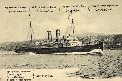 Ganzsachen Ostende, Jan Breydel, Fährschiff, 5C