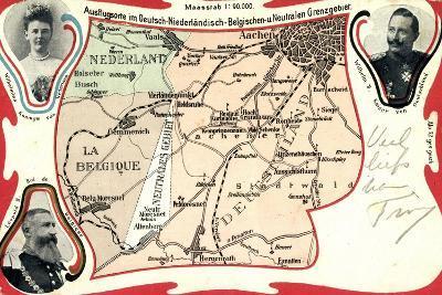 Landkarten Deutsch Niederländisch Belgische Grenze