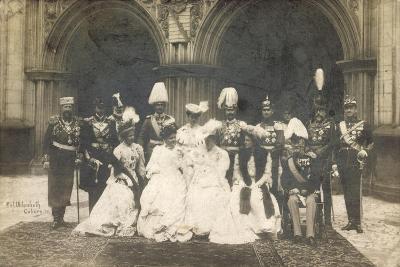 Foto Herzog Carl Eduard, Sibylle, Kaiser Wilhelm II
