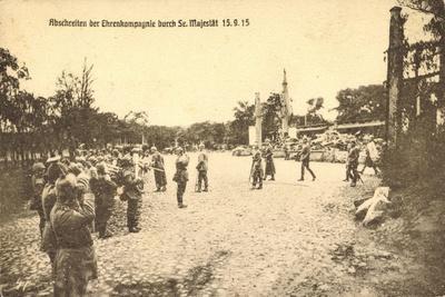 Abschreiten Der Ehrenkompagnie Durch Wilhelm II, 1915