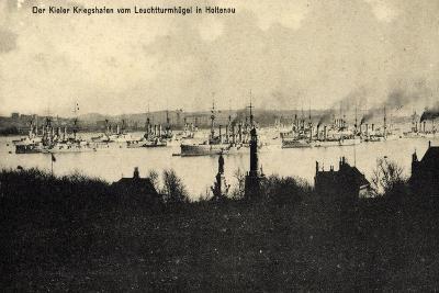 Kiel Holtenau, Blick Auf D Kriegshafen,Kriegsschiffe