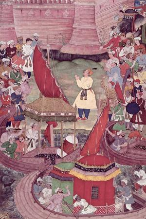 Akbar Praying on the Bank of the River Indus, from the 'Akbarnama'