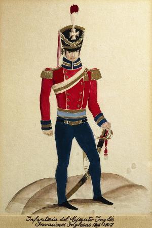 British Soldier in Argentina, 1806