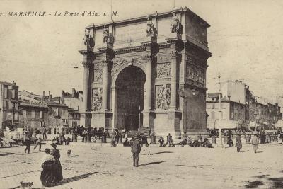 Postcard Depicting the Porte D'Aix