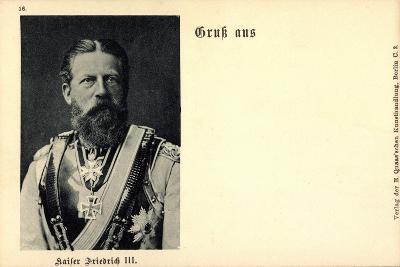 Kaiser Friedrich III Von Preußen, 99 Tage, Merité