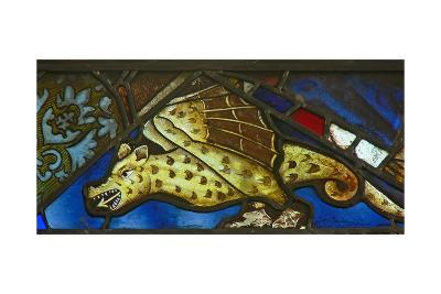 A Panel in the East Window Depicting a Dragon