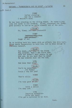 Marilyn Monroe's Final Draft Script for Her Last and Unfinished Film 'Something's Got to Give'