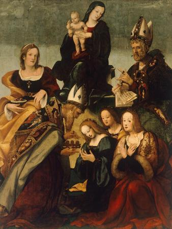 Madonna with Child and Saints Gregory the Great, Nicholas and Lucy