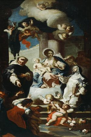 Our Lady of the Rosary with Saints Dominic and Catherine