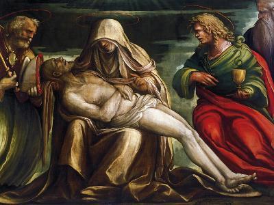 Pieta with Saint Mark, Ambrose, John the Evangeli, Saint and Antonio Abate
