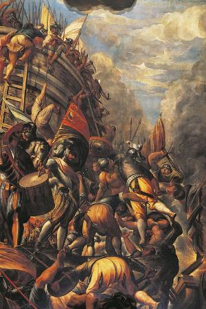 Venetians Defeating Genoese in Caffa in 1296