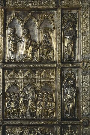 Adoration of Magi and St Thomas, Panel on Frontal of Altar of St James