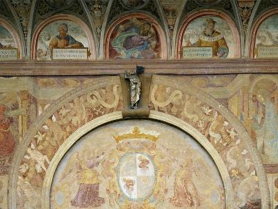 Annunciation, Flanking Entrance, and Prophets, in Lunettes of Shell