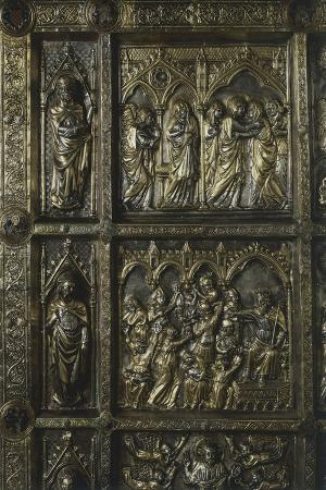 Annunciation, Visitation, and Massacre of Innocents, Panel on Frontal of Altar of St James