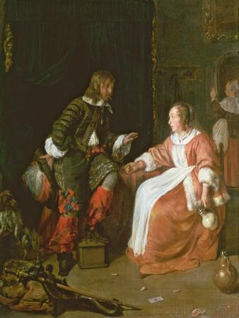 A Maid and an Officer, C. 1660-70