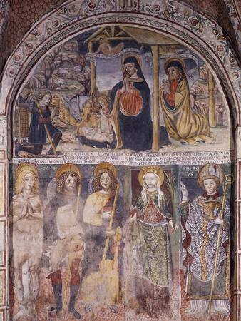 Nativity and Saints, Fresco