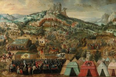 A Siege at Therouanne, with an Army Led by Charles V Encamped Below the City