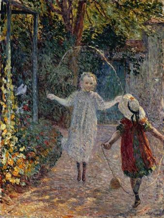 Young Girls Playing in the Garden, 1899