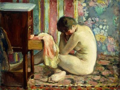 Nude with Pink Shirt; Nu a La Chemise Rose, 1926