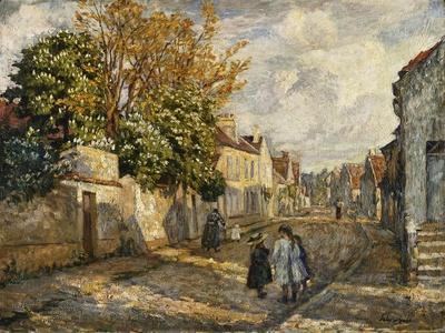 Street Scene, Lagny; Scene De Rue, Lagny