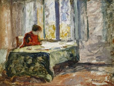 Woman Sewing; Femme Cousant