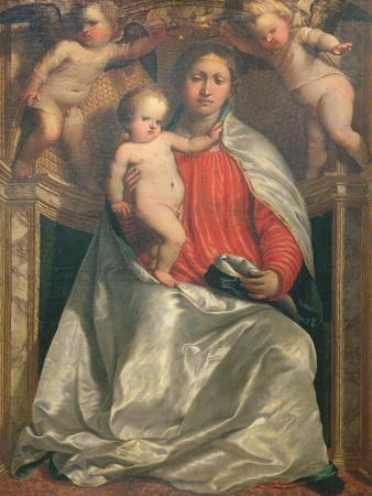 Madonna and Child Crowned by Two Angels, C.1530