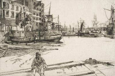 """Eagle Wharf, from """"A Series of Sixteen Etchings of Scenes on the Thames"""", 1859, Published 1871"""
