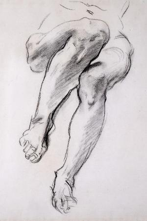 Feet and Legs of Seated Nude