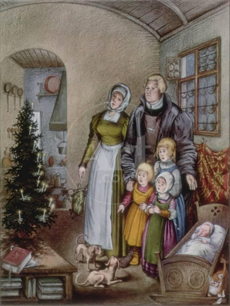 Martin Luther's Christmas Tree, from 'The Illustrated ...