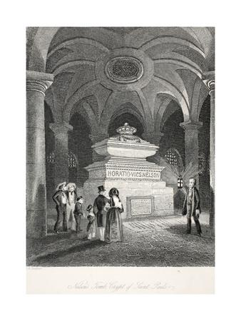 Nelson's Tomb in the Crypt of St Paul'S