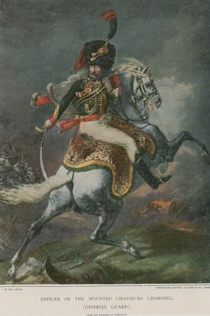 Officer of the Mounted Chasseurs Charging