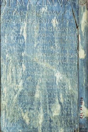 Roman Inscribed Praise of Dictator Quintus Fabius Maximus B.C.