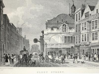 Fleet Street, from 'London and it's Environs in the Nineteenth Century'