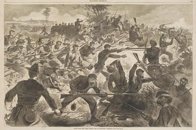 """The War for the Union, 1862 - a Bayonet Charge, Published in """"Harper's Weekly,"""" July 12, 1862"""