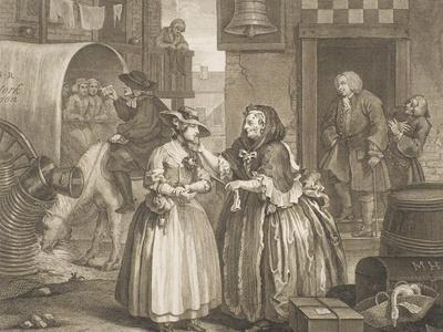 "A Harlot's Progress, Plate I from the Series ""A Harlot's Progress"", April 1732"