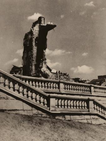 Ruins of the Royal Castle, Warsaw, C1945