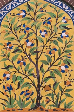 Flowering Tree, Majolica Decoration, Wazir Khan Mosque