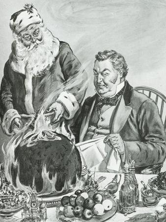 Father Christmas, Illustration from 'John Bull'