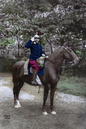 A French Soldier on Horseback, Western Front, 1915