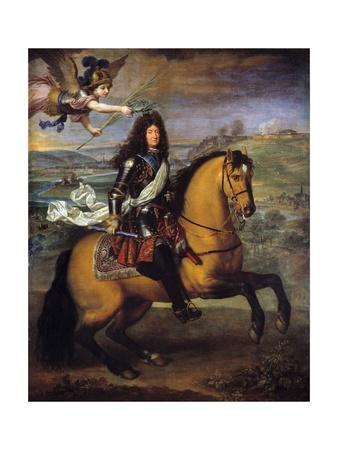 Equestrian Portrait of Louis XIV of France, by Pierre Mignard