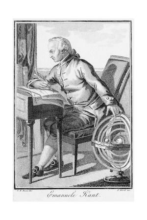 Engraving of Immanuel Kant at His Desk