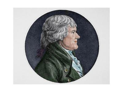 Thomas Jefferson (1743-1826). American Founding Father. President of the United State (1801-1809).
