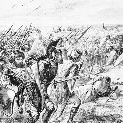 Illustration of the Battle of Marathon