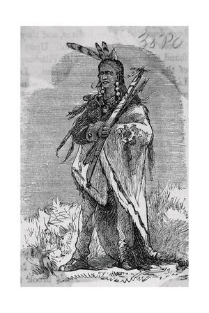 Drawing of Native American Chief Pontiac