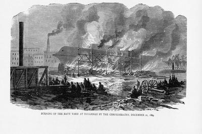 Burning Navy Yard