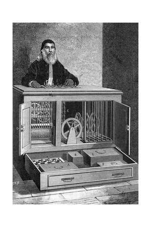 Illustration of Automated Chess Player or Robot